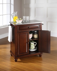 Alexandria Stainless Steel Top Portable Kitchen Island in Black - CROSLEY-KF30022ABK