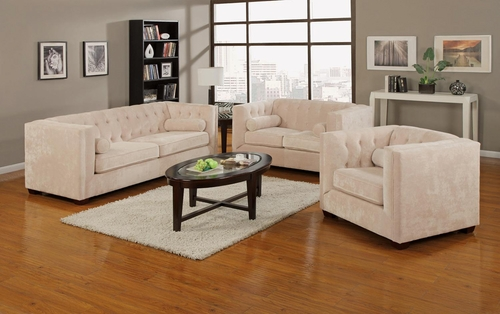 Alexis Almond Sofa, Loveseat and Chair Set - 504391