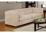 Alexis Almond Sofa with Track Arms - 504391