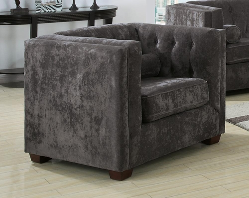Alexis Charcoal Chair with Track Arms - 504493