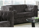 Alexis Charcoal Loveseat with Track Arms - 504492