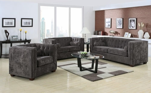 Alexis Charcoal Sofa, Loveseat and Chair Set - 504491