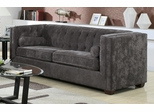 Alexis Charcoal Sofa with Track Arms - 504491