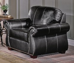 All Leather Chair in Dark Chocolate - 9834DC-1