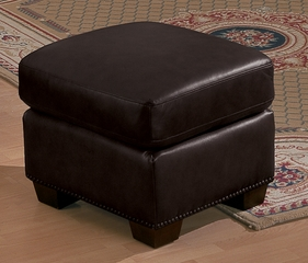 All Leather Ottoman in Dark Chocolate - 9834DC-4