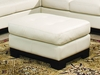 All Leather Ottoman in Ivory - 8-Way-Hand-Tied - 9958IV-4
