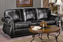 All Leather Sofa in Dark Chocolate - 9834DC-3