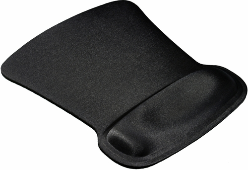 Allsop Black Ergoprene Gel Mouse Pad with Wrist Rest