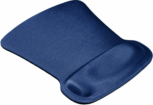Allsop Blue Ergoprene Gel Mouse Pad with Wrist Rest