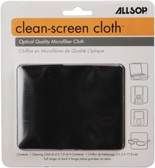 Allsop CleanScreen Cloth - Black Optical-Grade Microfiber