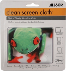 Allsop CleanScreen Cloth - Tree Frog Optical-Grade Microfiber