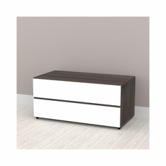 "Allure 36"" 2 Drawer Storage Cabinet - Nexera Furniture"