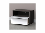 Allure Night Stand - 1 Flip Door, 1 Drawer - Nexera Furniture