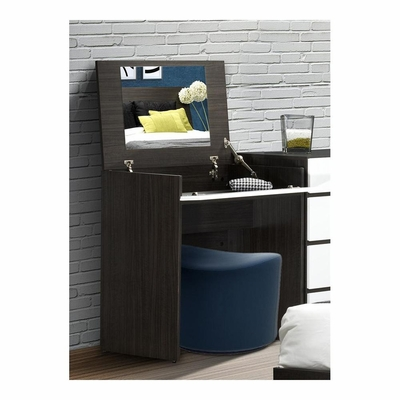 Allure Vanity with Enclosed Mirror and Storage - Nexera Furniture