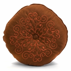 "Alma Round Medallion Pillow - 14""D - IMAX - 42066"