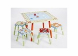 Alphabet Soup Table and Stool (Set of 4) - LOD70002