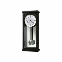 Alvarez Black Satin Wall Clock - Howard Miller