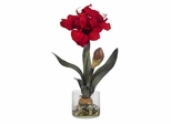 Amaryllis with Round Vase - Nearly Natural - 4827
