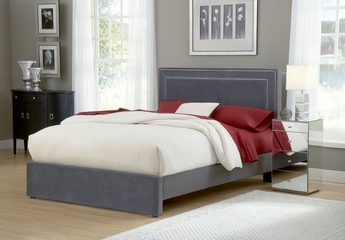 Amber King Size Fabric Bed - Hillsdale Furniture - 1638BKRA