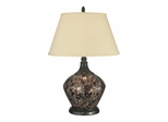 Amber Shell Mosaic Table Lamp - Dale Tiffany