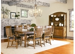 American Drew Americana Home 10PC Dining Room Set in Warm Khaki Oak - 114-760