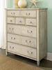 American Drew Americana Home 5 Drawer Chest - Weathered White - 114-215W
