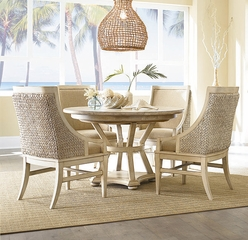 American Drew Americana Home 5PC Dining Set in Weathered White - 114-701WR