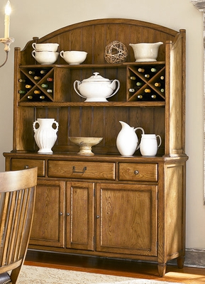 American Drew Americana Home Buffet in Warm Khaki Oak - 114-830R