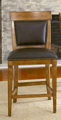 American Drew Americana Home Counter Height Leather Chair - Set of 2 - 114-690