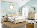 American Drew Americana Home King Platform Bed 5PC Bedroom Set - Weathered White - 114-336WR