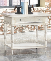 American Drew Americana Home Leg Nightstand - Weathered White - 114-400W