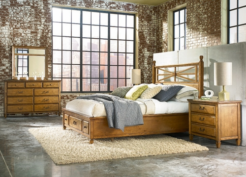 American Drew Americana Home Queen Platform Bed 5PC Bedroom Set - 114-333R