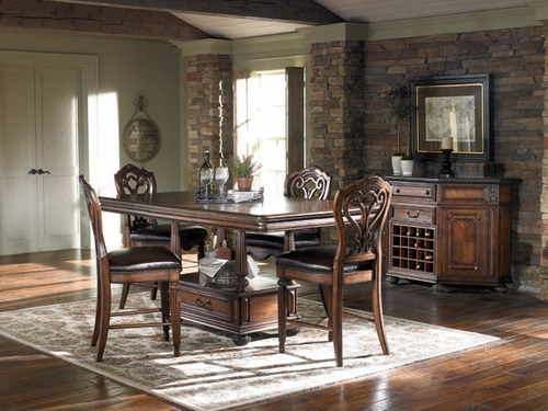 American Drew Barrington House 6PC Gathering Table Set with 4 Chairs - 126-700R