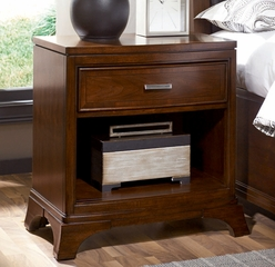 American Drew Essex Drawer Nightstand in Mink - 104-420
