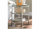 American Drew Essex Metal Nightstand with Glass Shelves - 104-421R