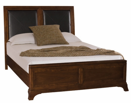 American Drew Essex Queen Size Leather Accent Bed - 104-313R