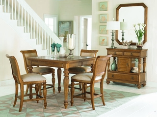 American Drew Grand Isle Counter Height Dining Set with Side Board - 079-700