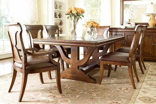 American Drew Laurel Springs 7PC Finley Trestle Dining Set - 216-744R