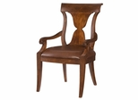 American Drew Laurel Springs Leather Arm Chair - Set of 2 - 216-637