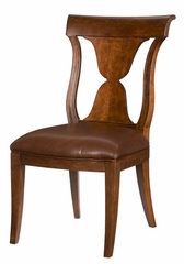 American Drew Laurel Springs Leather Side Chair - Set of 2 - 216-636