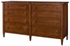 American Drew Miller's Creek 8 Drawer Dresser in Cherry - 210-130