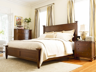 American Drew Miller's Creek Fairmont King Bed with Chest and Nightstand - 210-316R