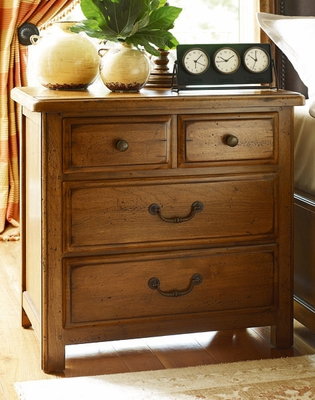 American Drew New River Drawer Nightstand in Amber - 204-420