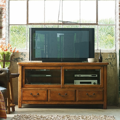 American Drew New River Entertainment Console with Sliding Doors - 204-926