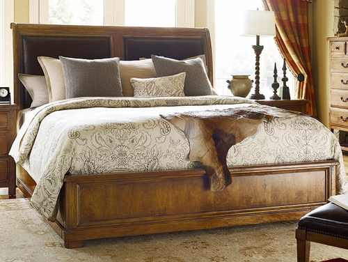 American Drew New River Estuary King Sleigh Bed in Amber - 204-306R