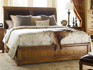 American Drew New River Estuary Queen Sleigh Bed in Amber - 204-304R