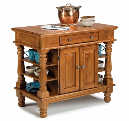 Americana Kitchen Island in Cottage Oak - Home Styles - 5093-94