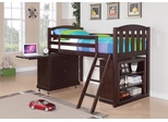 Anders Loft Bed in Cappuccino - 460443