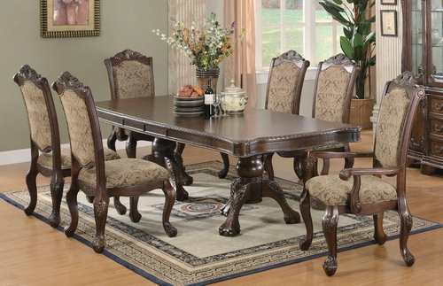 Andrea 7 Piece Double Pedestal Dining Table Set - 103111