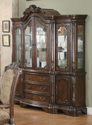 Andrea China Hutch and Buffet in Brown Cherry - 103114